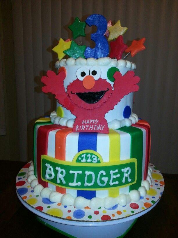 2 Tier Elmo Birthday Cake