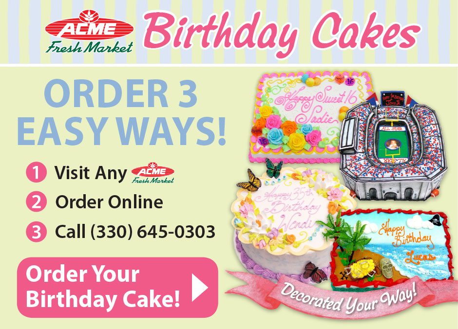 11 Acme Birthday Cakes Beach Cakes Photo Albertsons Birthday Cake