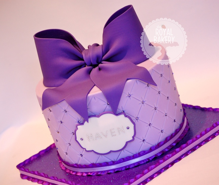 Brilliant 8 Purple And White Cakes With Bows Photo Big Bow Birthday Cake Personalised Birthday Cards Epsylily Jamesorg