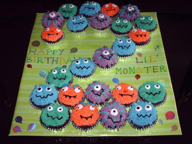 10 Cupcakes For Boys 2nd Birthday Photo Baby Boy First Birthday