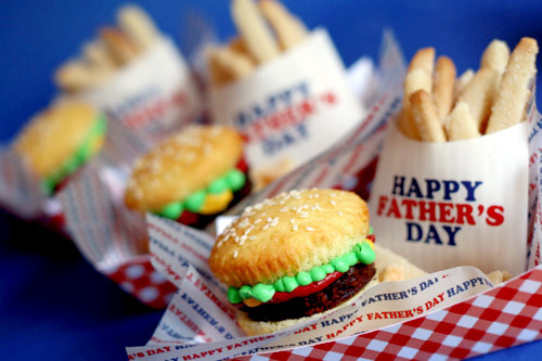 Burger & Fries Cookie Cupcakes