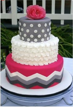 13 Chevron Cakes For Girls 14th Birthday Photo