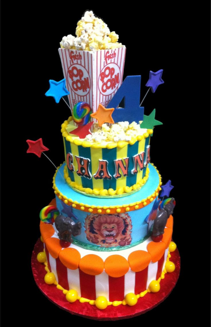 Fantastic 11 Circus Buttercream Birthday Cakes Photo Birthday Cakes Personalised Birthday Cards Veneteletsinfo