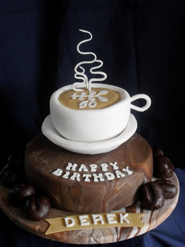 6 Coffee Themed Birthday Cakes Photo Coffee Birthday Cake Coffee