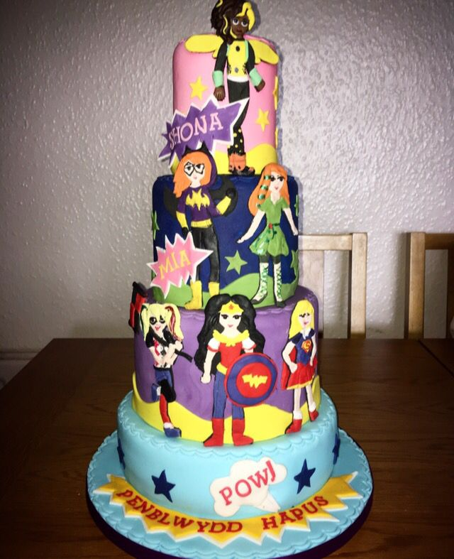 Enjoyable 10 Super Hero Cakes For A Boy And Girl Photo Girl Superhero Cake Funny Birthday Cards Online Aeocydamsfinfo