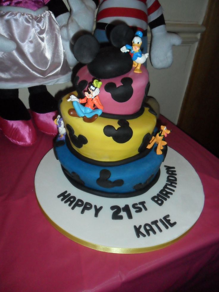 10 Disney Bday Cakes Photo Disney Characters Cake Disney Cake and