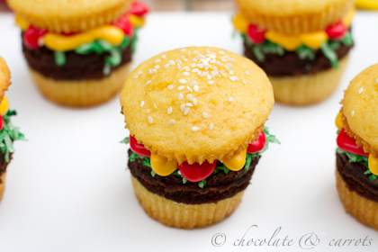 Father's Day Hamburger Cupcakes