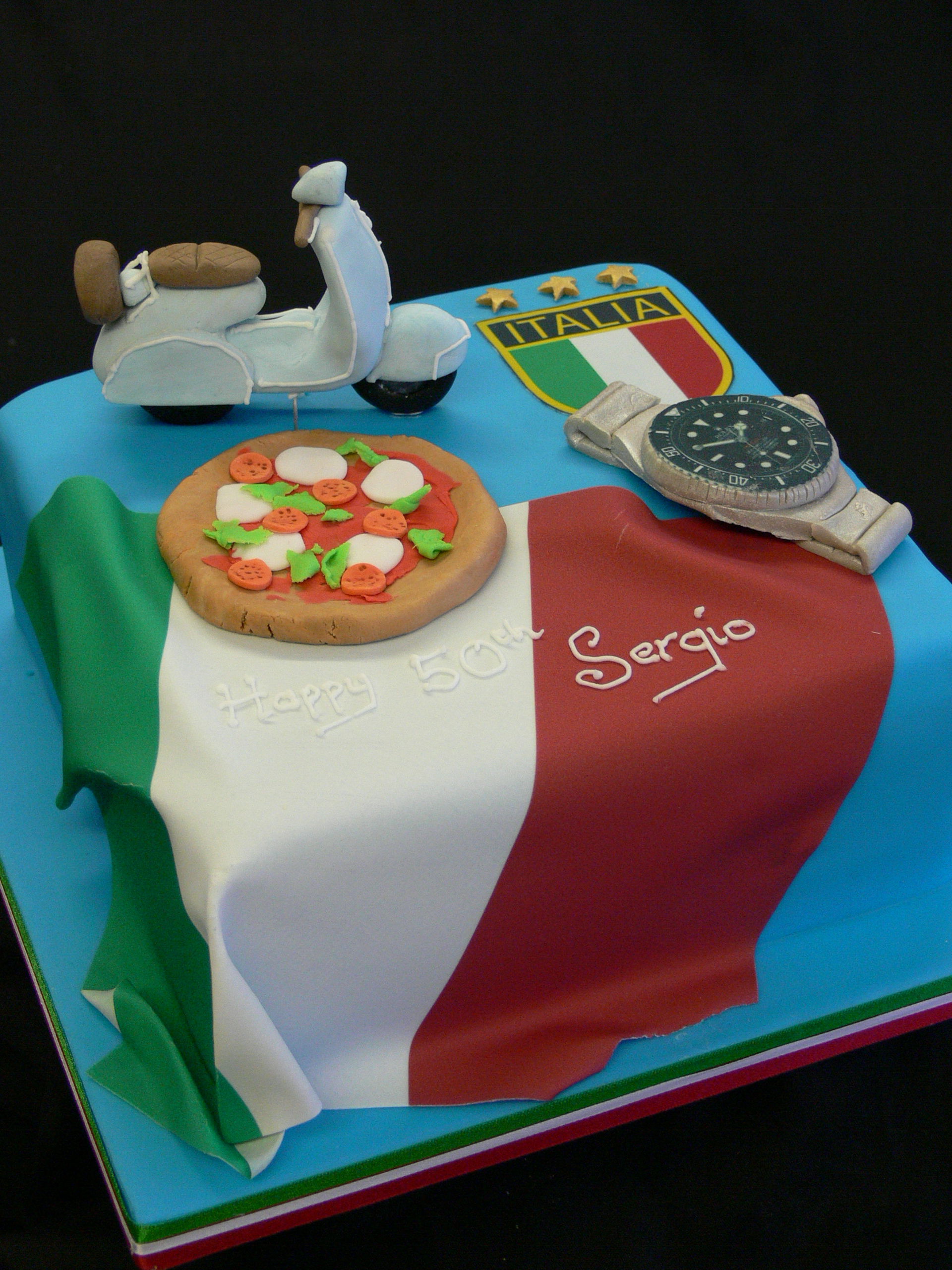 Cool 5 Tuscany Of Birthday Cakes Photo Italian Themed Birthday Cake Personalised Birthday Cards Beptaeletsinfo