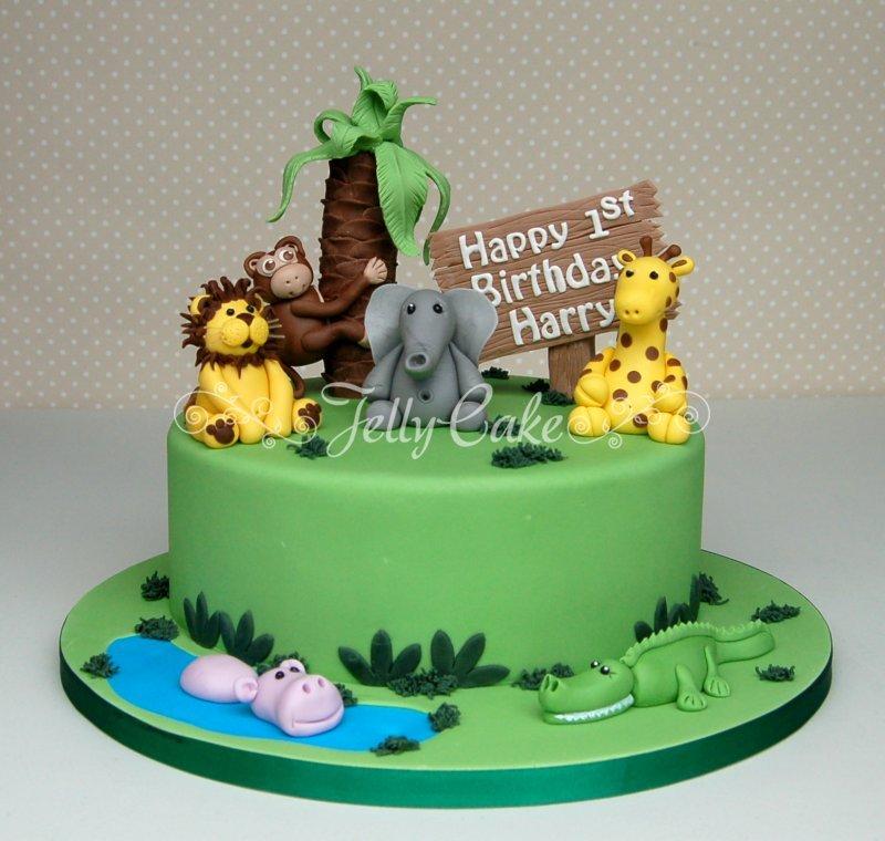 12 Jungle Safari 1st Birthday Cakes Photo Jungle Theme 1st