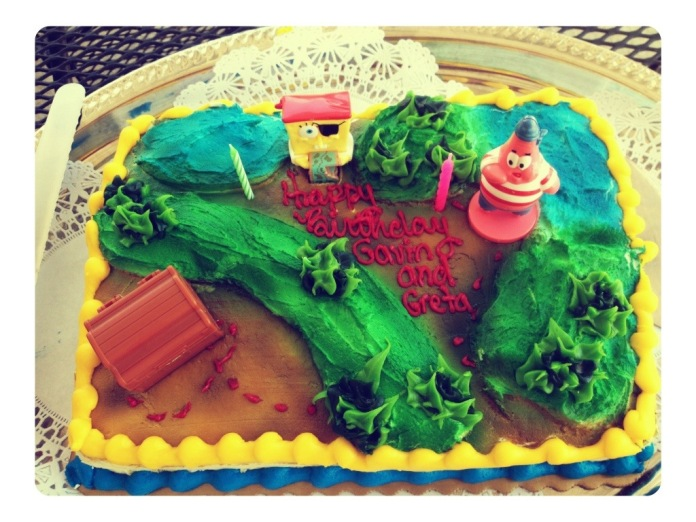 Enjoyable 9 Spongebob Birthday Cakes From Kroger Photo Kroger Birthday Personalised Birthday Cards Veneteletsinfo