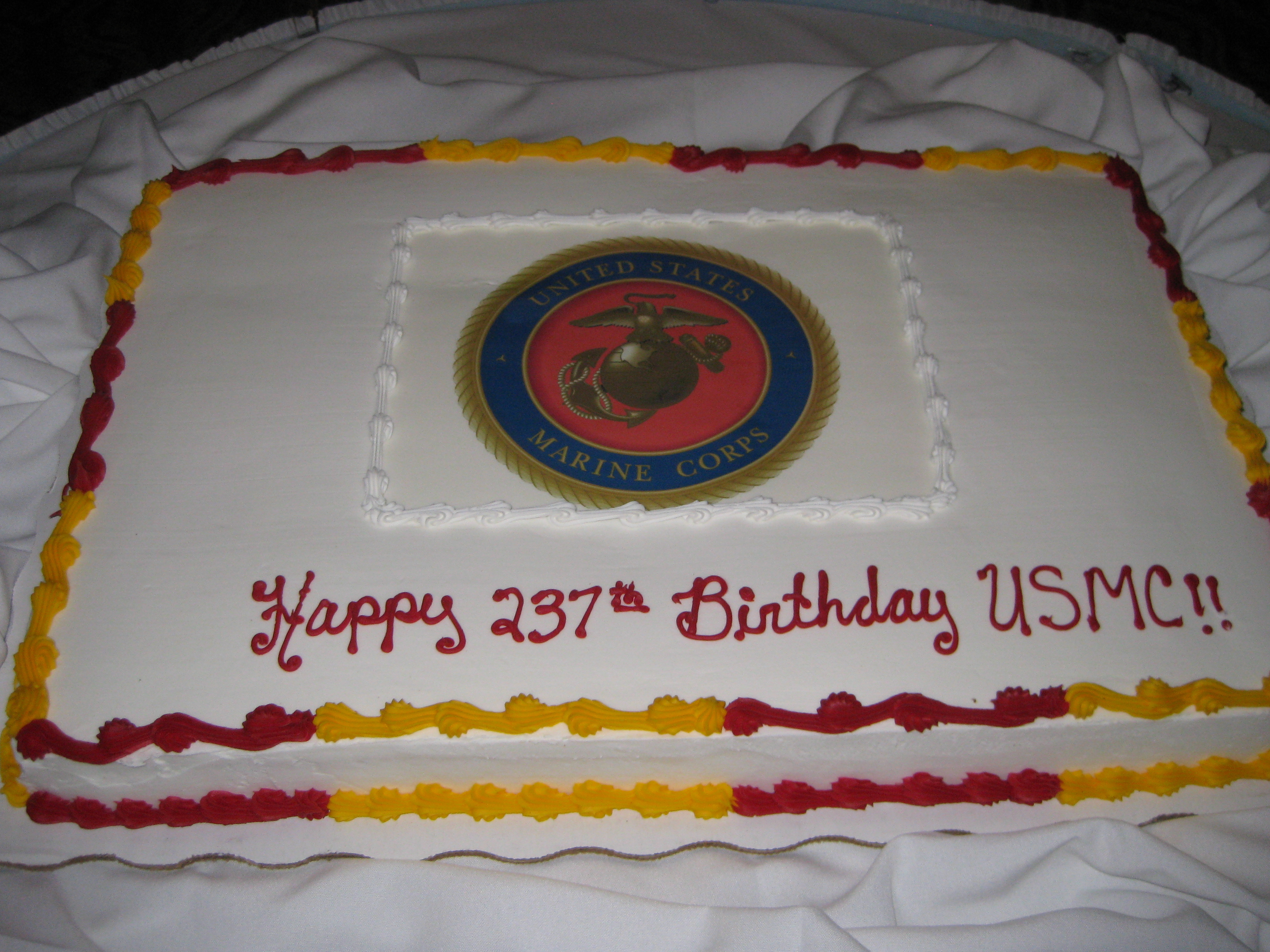 12 Marine Corps Ball Cakes Photo Marine Corps Cake Ideas Marine