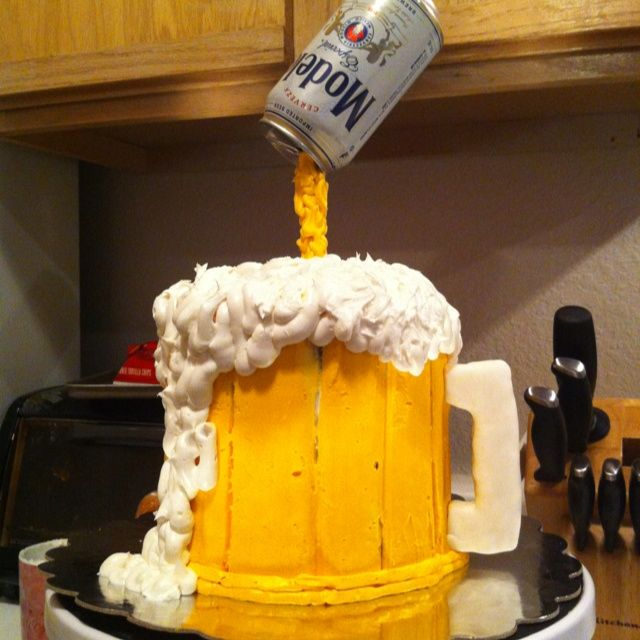 Men Beer Birthday Cake Ideas