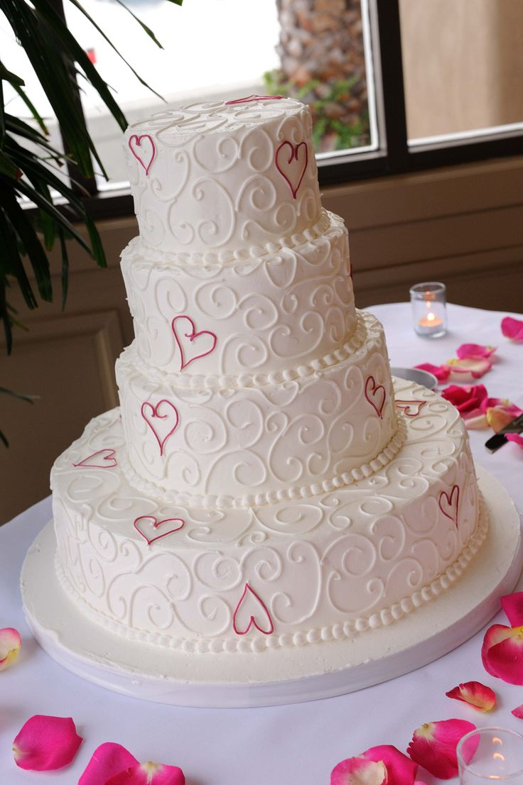 wedding cake with hearts 9 pink cakes photo pink shaped wedding 26905
