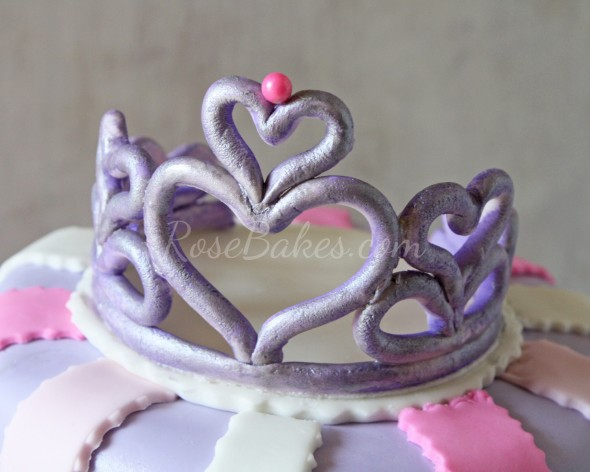10 Gum Paste Tiaras For Princess Cakes Photo - Princess Tiara Cake ...