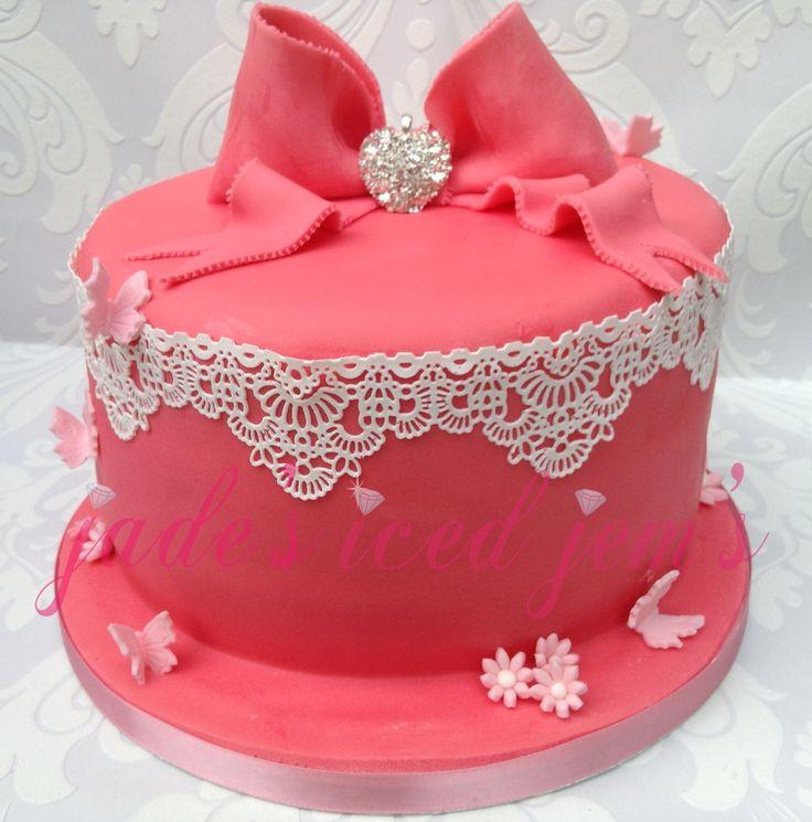 Sparkly Girly Birthday Cake