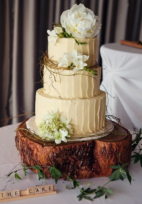 10 Wood Country Themed Wedding Cakes Photo Wood Wedding Cake Stand