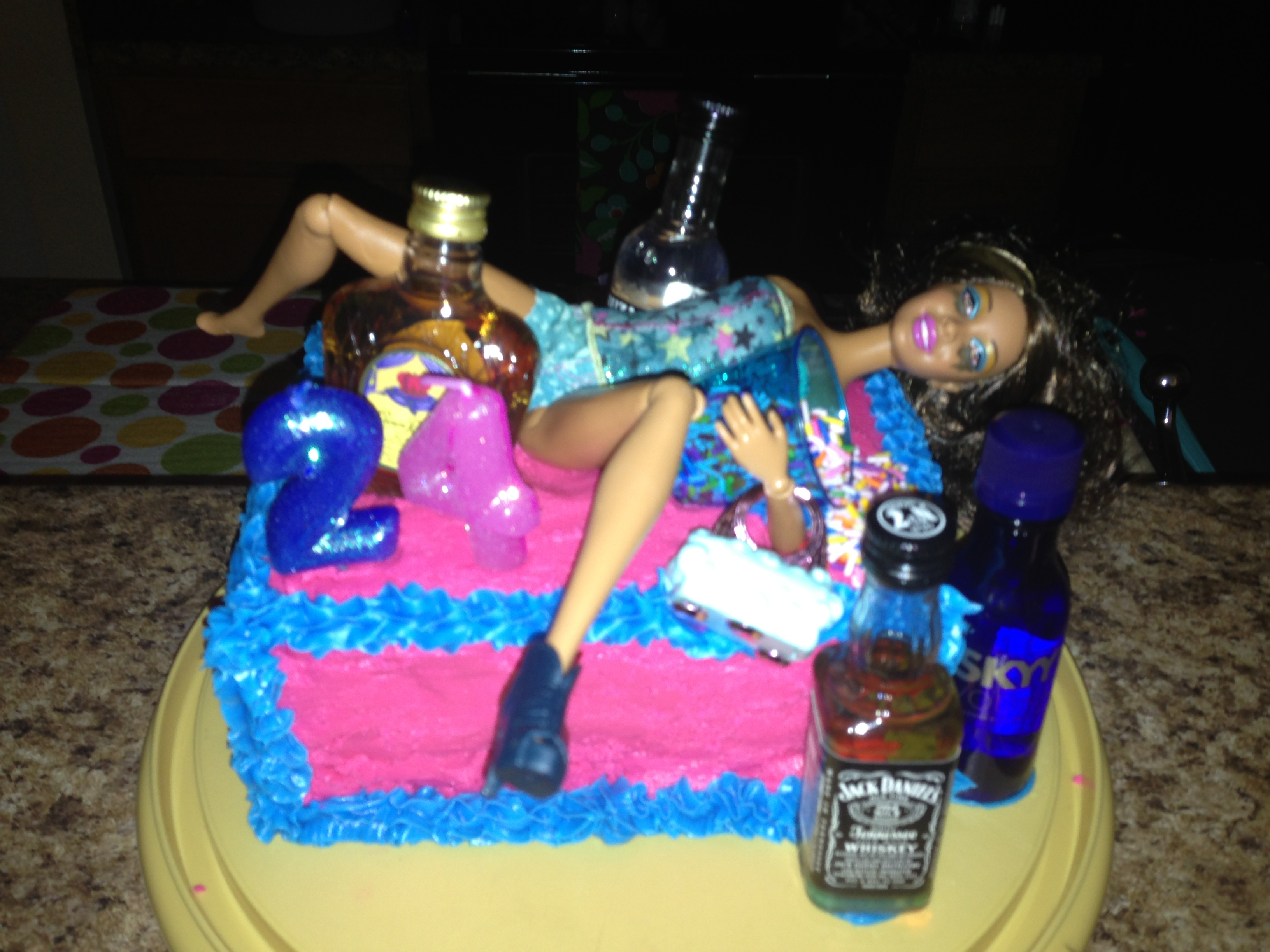 Stupendous 10 Funny Drunk Birthday Cakes For Men Photo Drunk Barbie 21St Funny Birthday Cards Online Kookostrdamsfinfo
