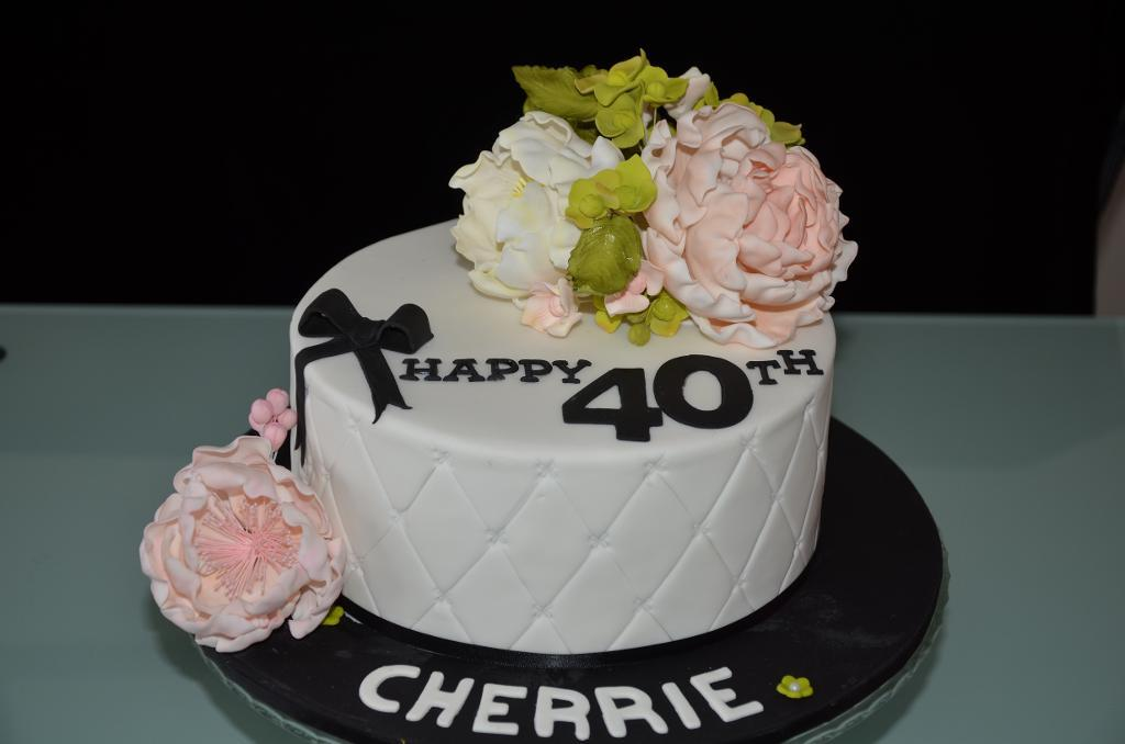 Magnificent 11 40 Birthday Cakes For Ladies Photo 40Th Birthday Cake Ideas Funny Birthday Cards Online Overcheapnameinfo