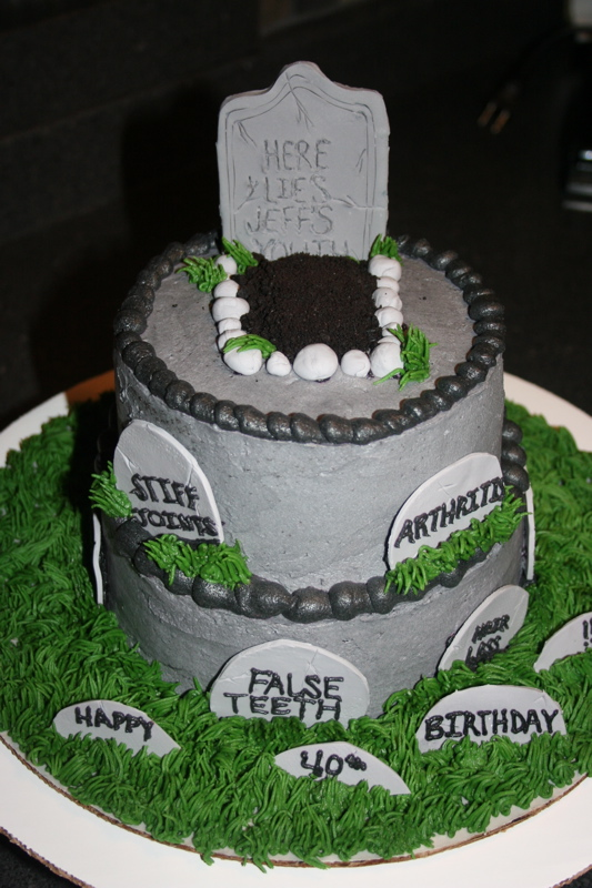 11 Over The Hill 40th Birthday Cakes For Male Photo Funny Over the