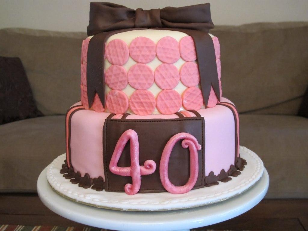 11 40 Birthday Cakes For Ladies Photo 40th Birthday Cake Ideas