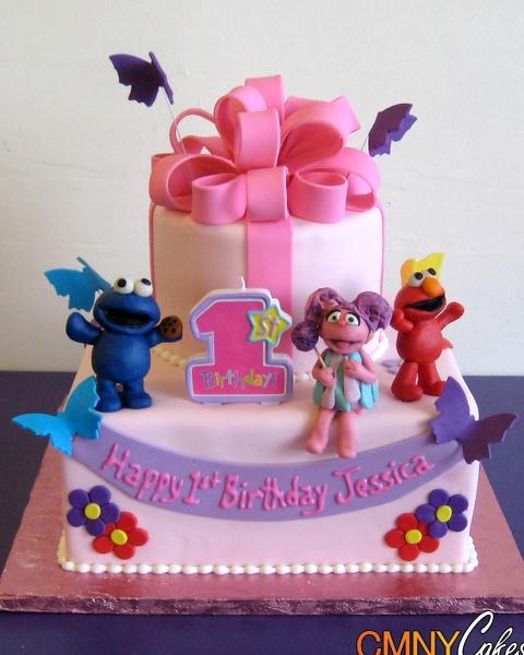 Abby Cadabby Elmo Cookie Monster Cake