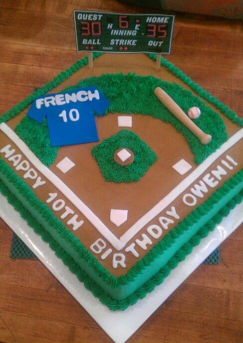 10 Card With Baseball Theme Cakes Photo Baseball Theme Cake