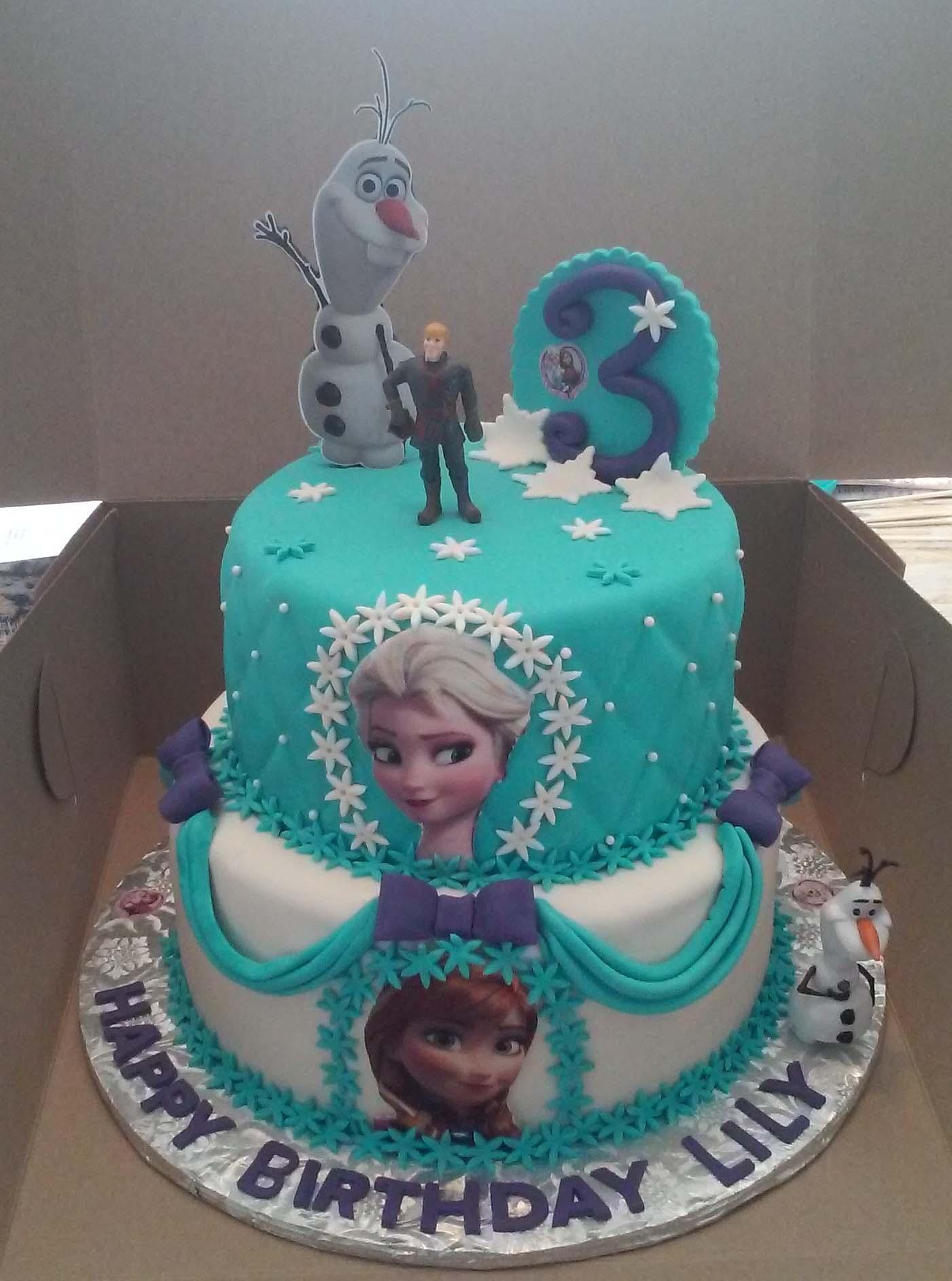 7 3 Tier Birthday Cakes Frozen Elsa Photo Three Tier Birthday Cake
