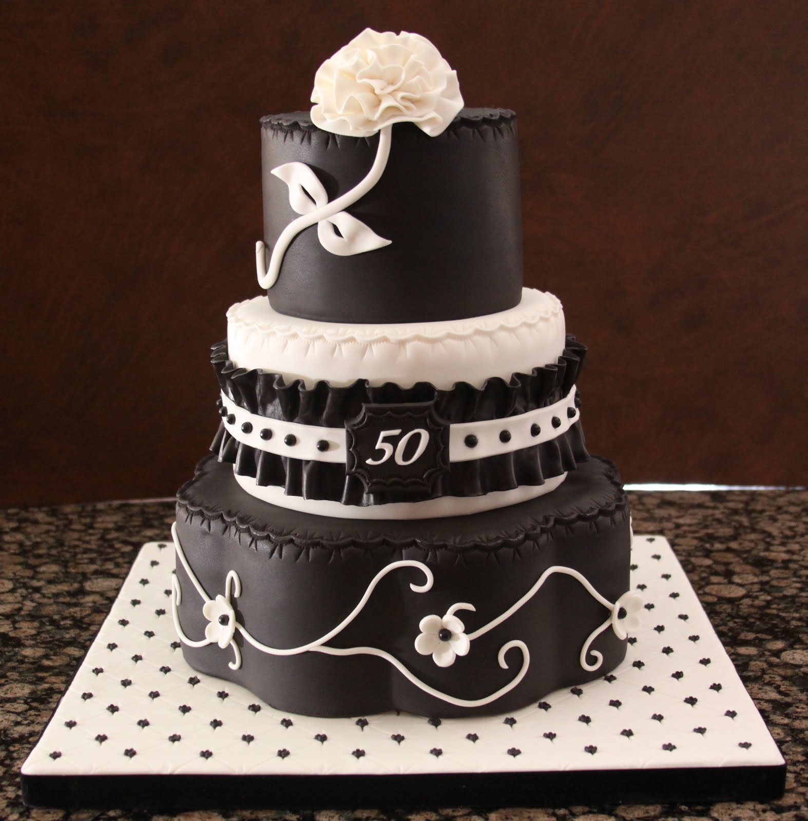 Miraculous 7 Cakes For Men Black Photo Black And White 50Th Birthday Cake Funny Birthday Cards Online Overcheapnameinfo