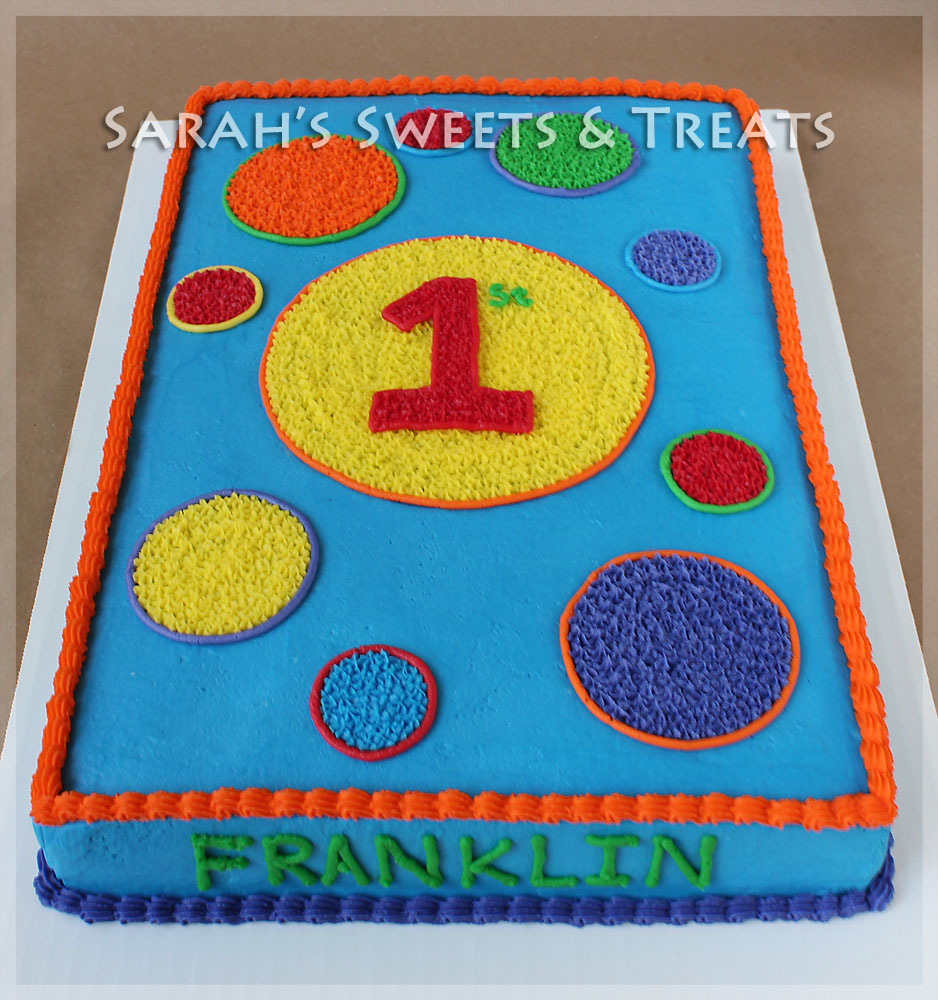 9 Primary Color Boys Sheet Cakes Photo Blue and Yellow Birthday