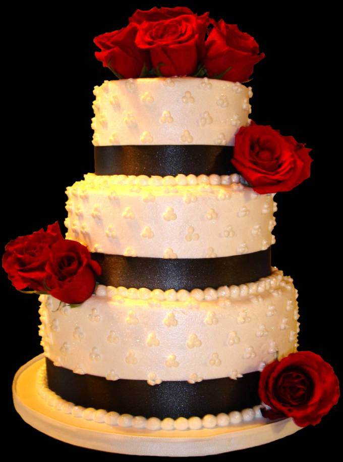 7 Red Wedding Cakes Buttercream Photo - Red White and Silver Wedding ...