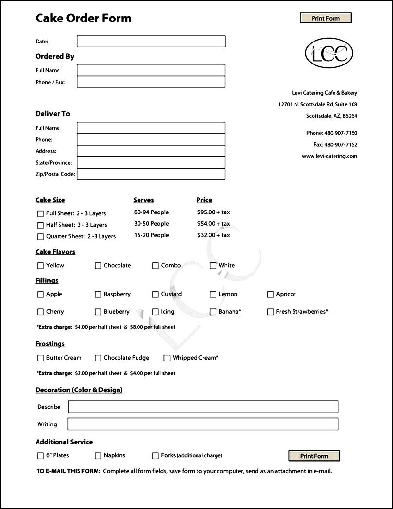 bakery order forms selo l ink co