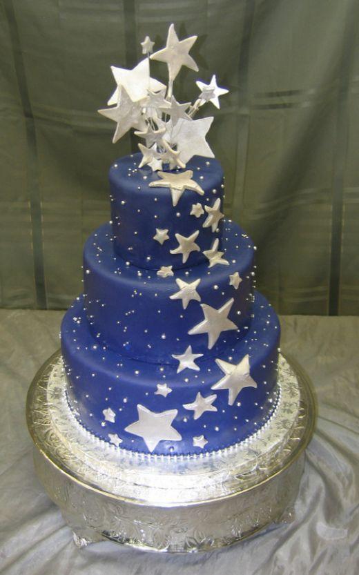 10 Night Stars Birthday Cakes Photo Cakes With Stars Theme Night