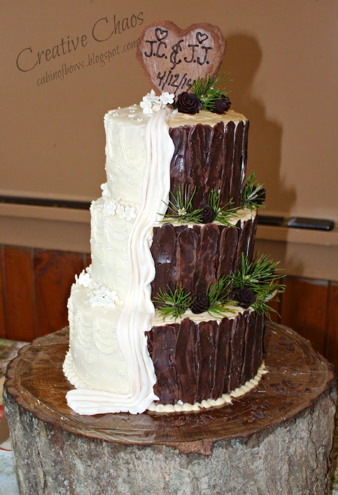 Camo Half Wedding Cake