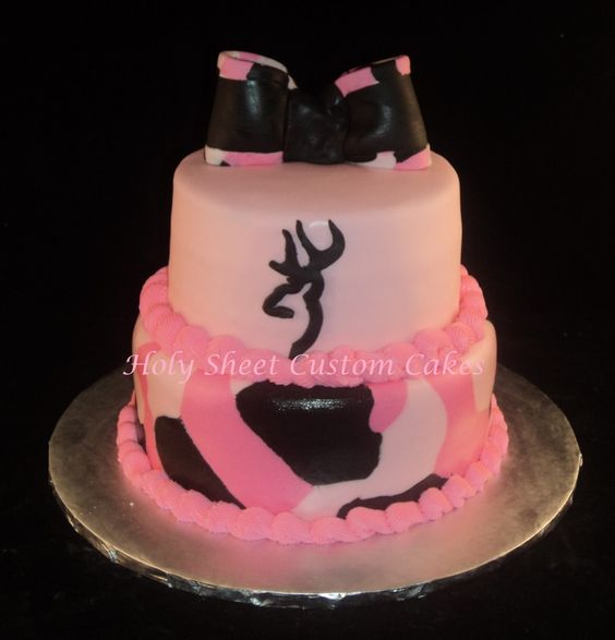 12 Pink Browning Symbol Cupcakes Photo Browning Symbol Made Out Of