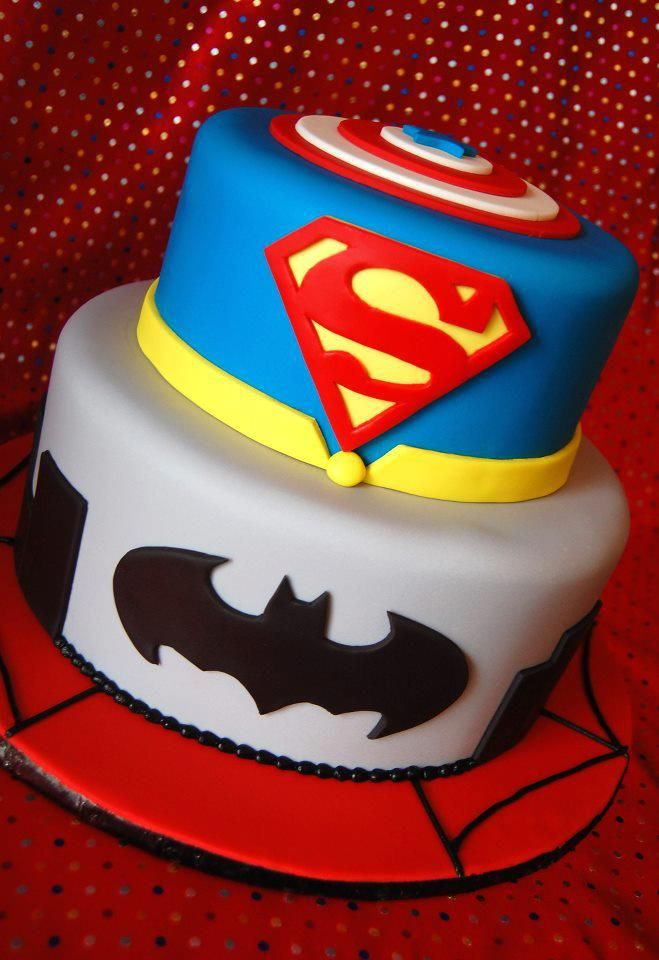 11 Jewel Superhero Cakes For Boys Photo Superhero Kids Birthday