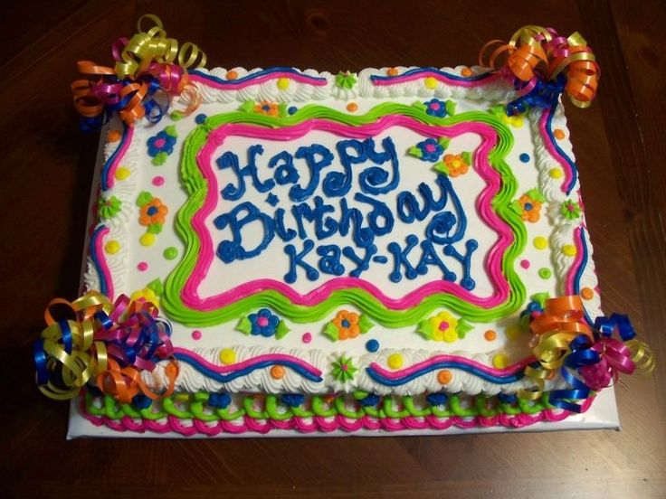 11 Sheet Cakes Fancy Birthday Girls Photo Colorful Birthday Sheet