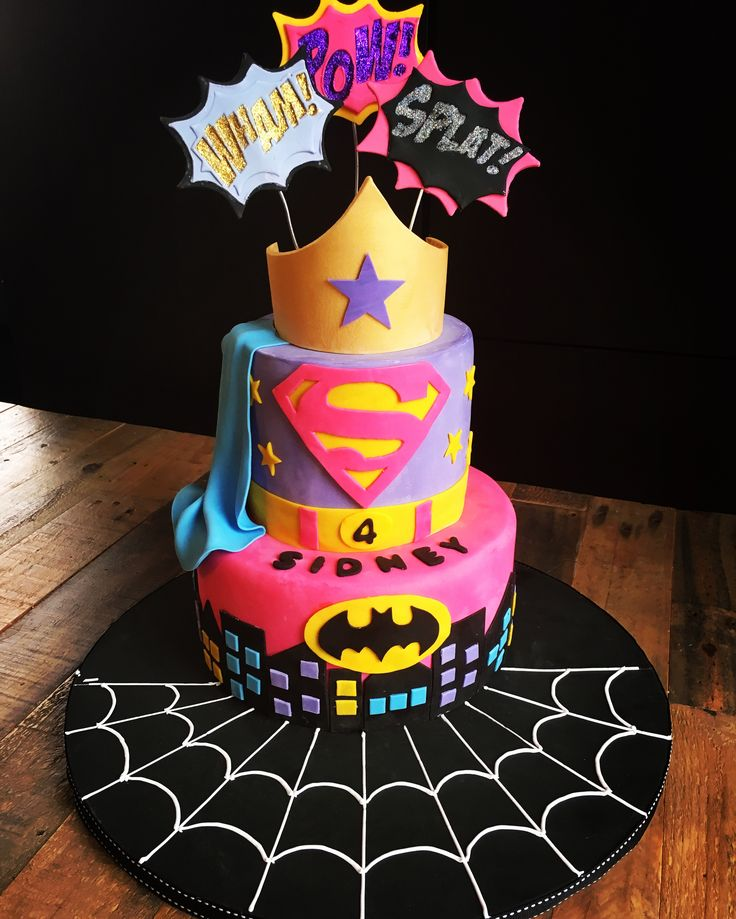 Peachy 12 Superhero Cakes For Girls Photo Girl Superhero Cake Dc Super Funny Birthday Cards Online Kookostrdamsfinfo