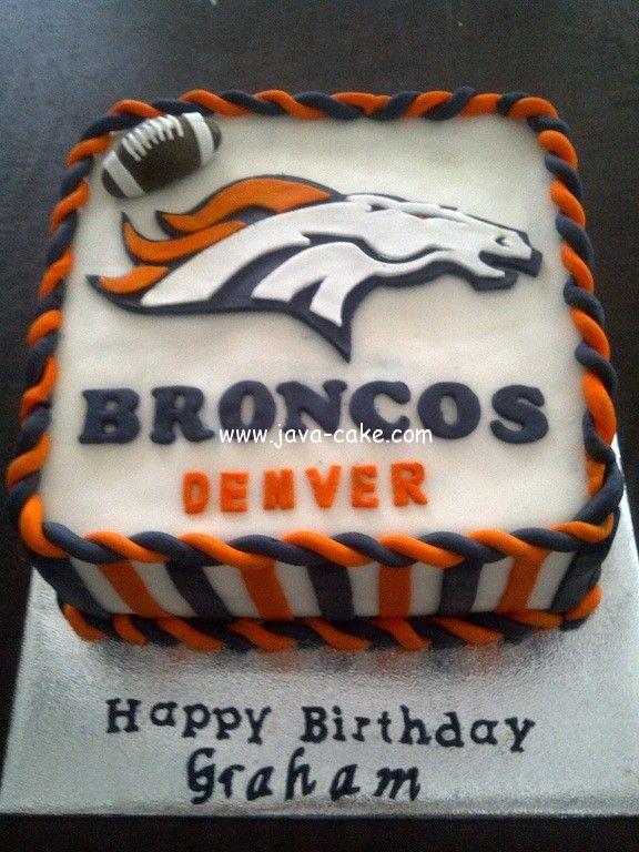 Marvelous 12 Broncos Football Birthday Cakes Photo Denver Broncos Birthday Birthday Cards Printable Trancafe Filternl