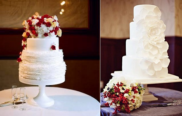 elegant christmas wedding cakes