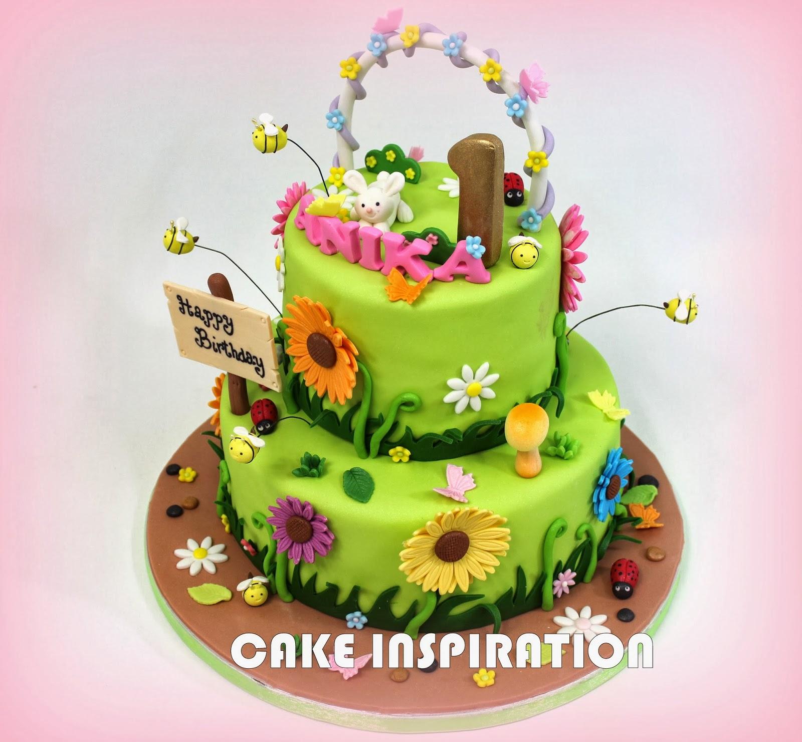 12 garden flower themed cakes photo garden cake decorating ideas flower garden theme birthday cake izmirmasajfo Gallery
