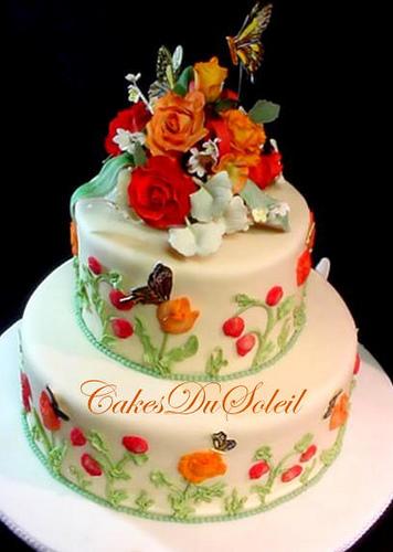 Garden Of Flower Themed Cakes - Flowers Healthy