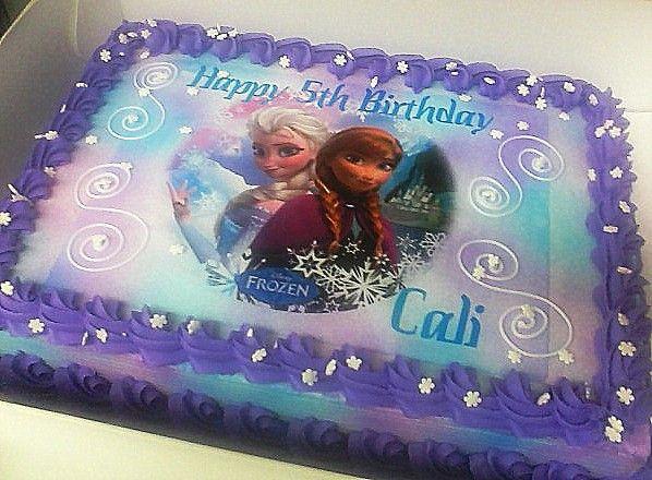 11 Frozen Full Sheet Cakes Photo Frozen Sheet Cake Ideas Frozen