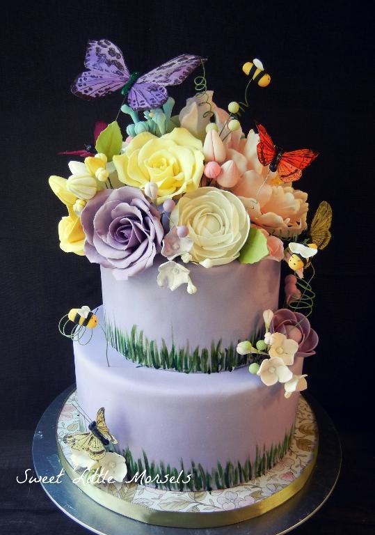 12 Garden Flower Themed Cakes Photo - Garden Cake Decorating Ideas ...