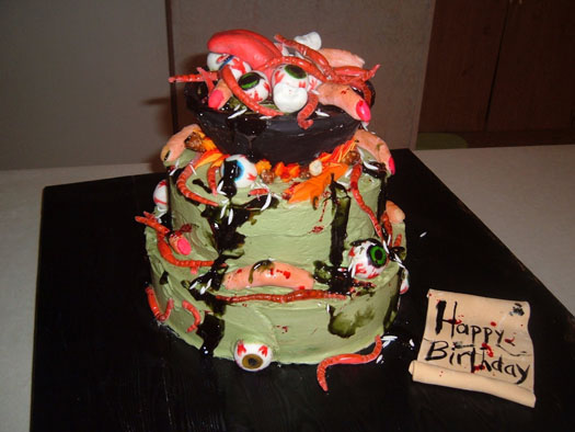 Gross Halloween Cake Decorating Ideas