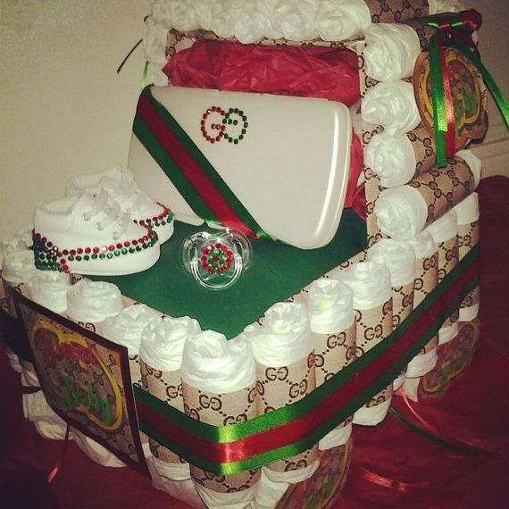 Gucci Baby Shower Cake