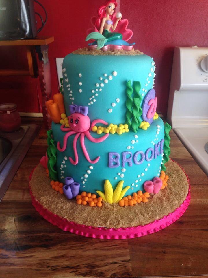 9 Mermaid Cakes Pinterest Photo Little Mermaid Birthday Cake Idea