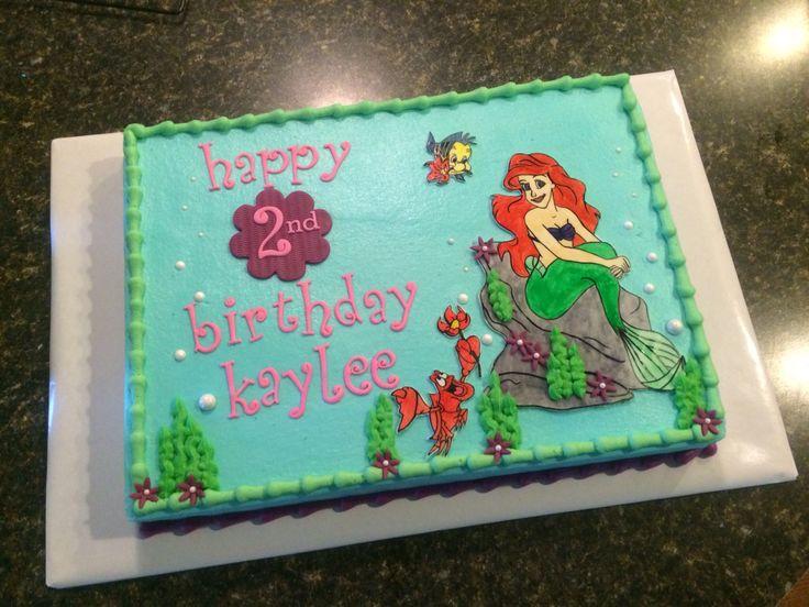 10 Little Mermaid Sheet Birthday Cakes Photo Little Mermaid Sheet