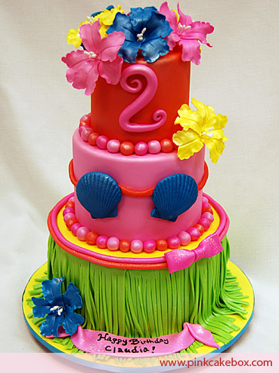 Excellent 8 Hawaiian Party Birthday Cakes Photo Luau Birthday Cake Luau Funny Birthday Cards Online Fluifree Goldxyz
