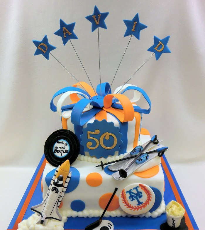 Mens 50th Birthday Cake