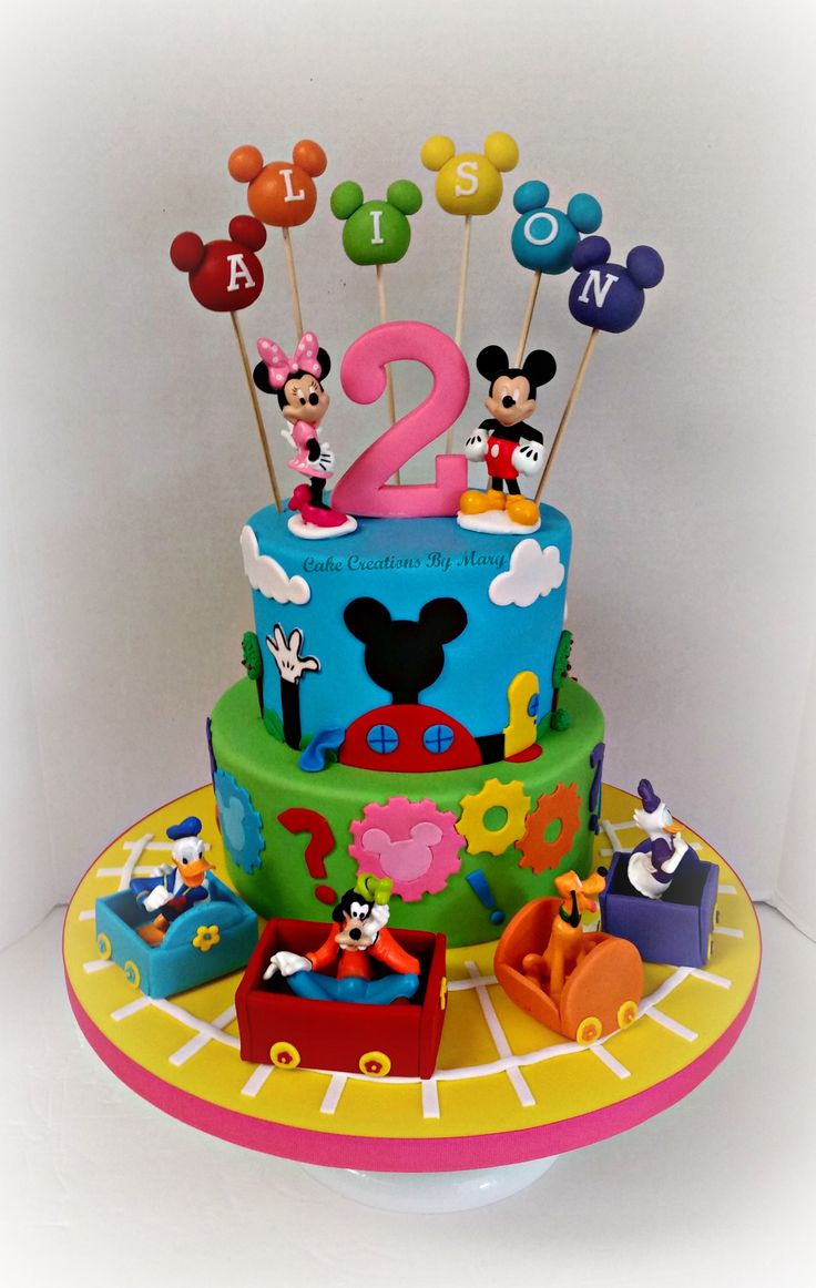 Mickey Mouse Clubhouse 1st Birthday Cake Images Birthday Cake With
